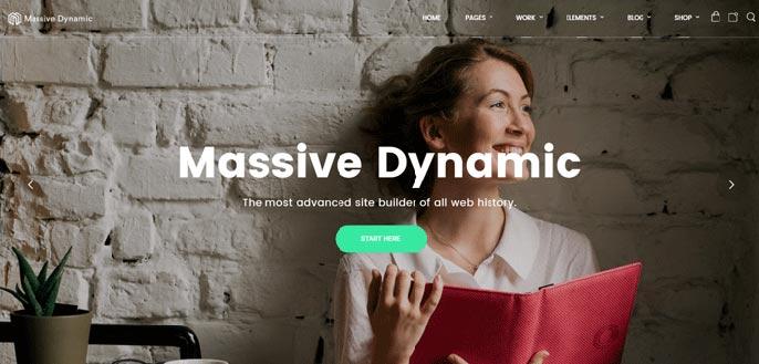 Massive Dynamic WordPress theme screenshot