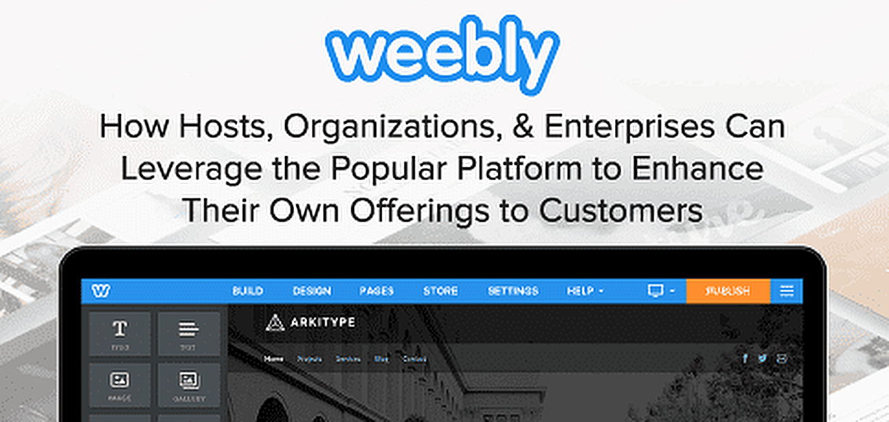 Weebly for Hosts, Enterprises, and Organizations