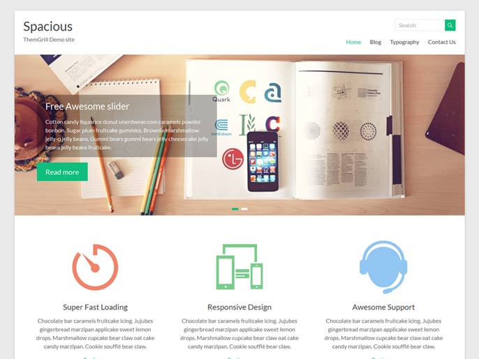 Spacious WordPress theme screenshot