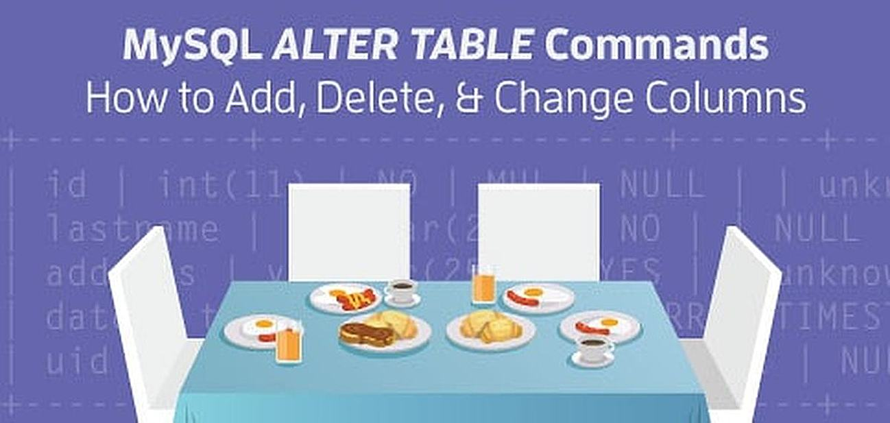 How to Add, Delete and Change Columns With ALTER TABLE