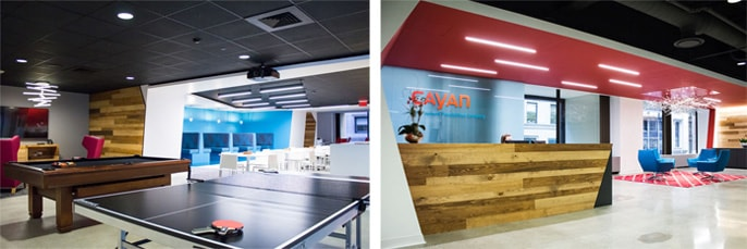 Photos of Cayan's Boston office
