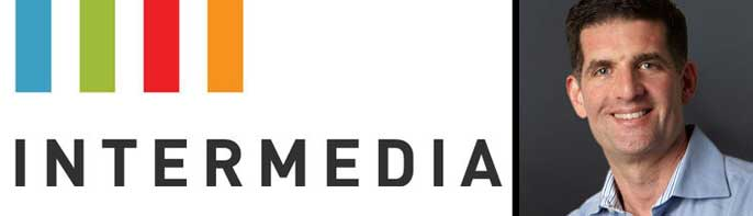 Photo of Eric Weiss and Intermedia logo