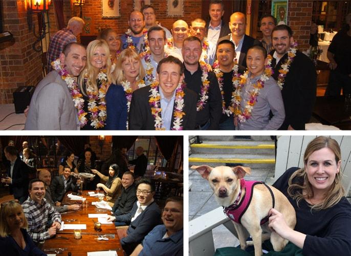 Photo collage of Intermedia employees