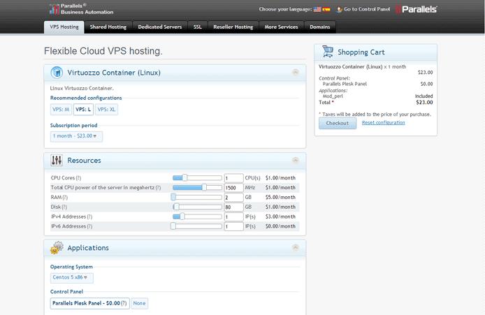 Screenshot of OBAS dashboard