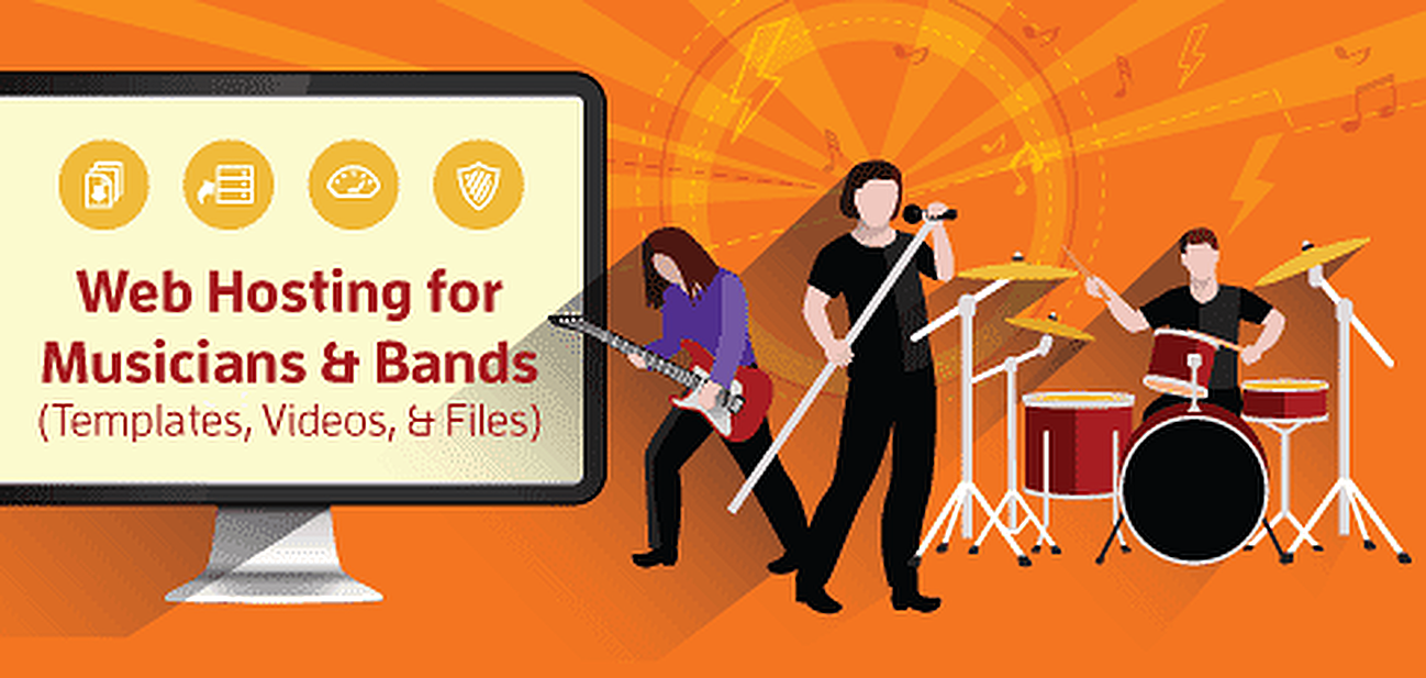 Best hosting for musicians and bands: templates, videos, and files