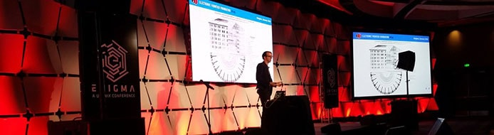 Bill Budington presents at Enigma Conference