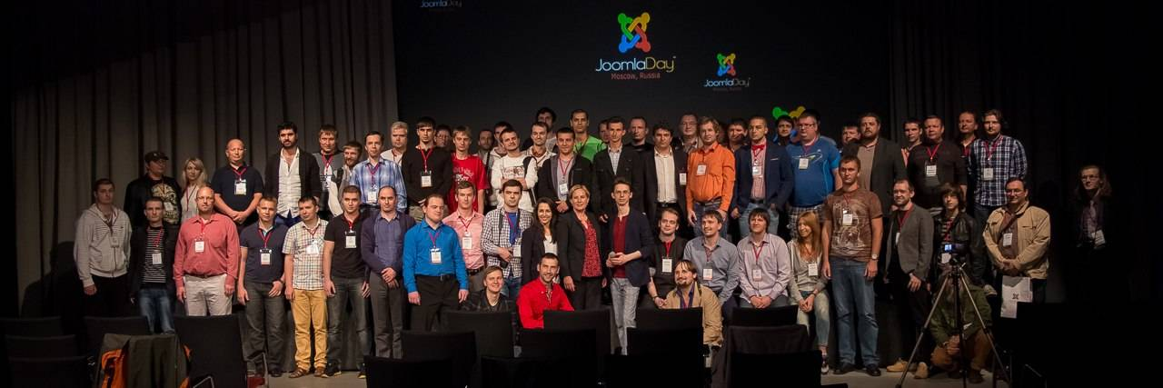 Group photo of JoomlaDay Russia attendees