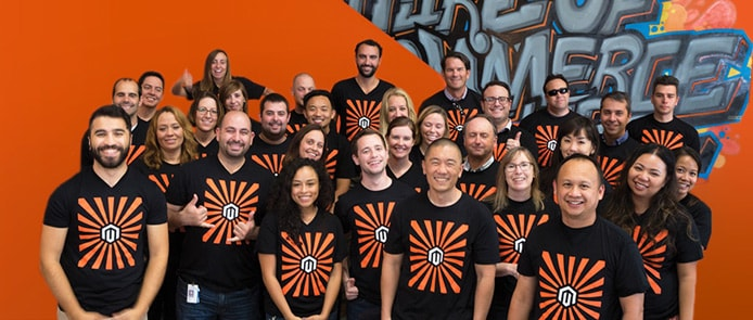 Group shot of Magento employees