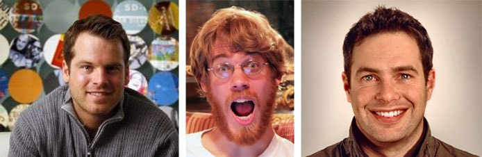 Collage of headshots of Logan Abbott and Engineering Leads Dave Brondsema and Kenton Taylor