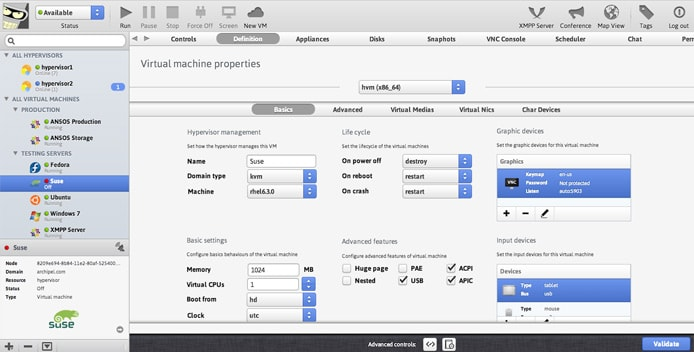 Screenshot of Archipel interface
