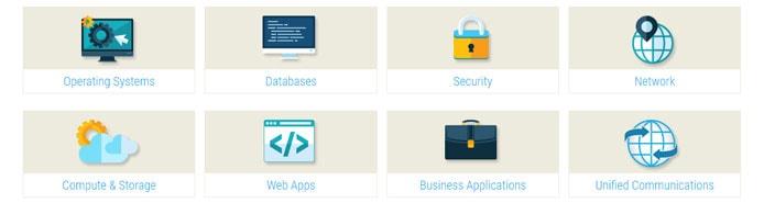 Screenshot of Interoute applications screen