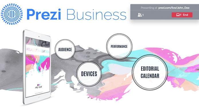 Screenshot of Prezi Business