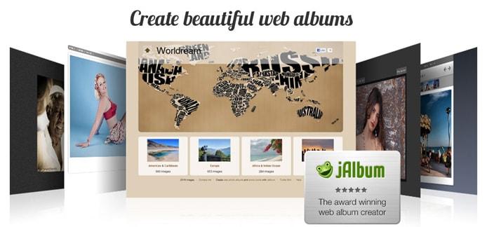 Screenshots of jAlbum galleries