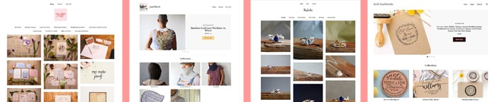 Screenshots of websites built with Pattern