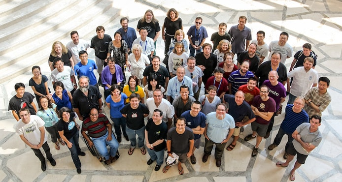 2013 team photo of W3C staff