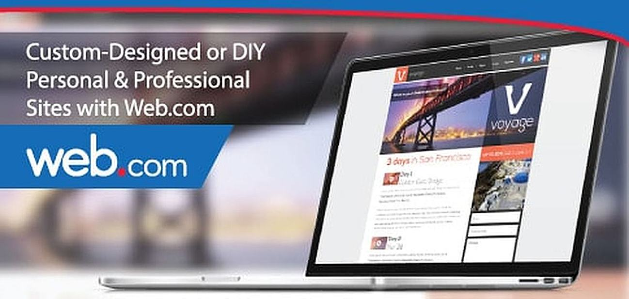 Custom-Designed or DIY Personal and Professional Sites with Web.com