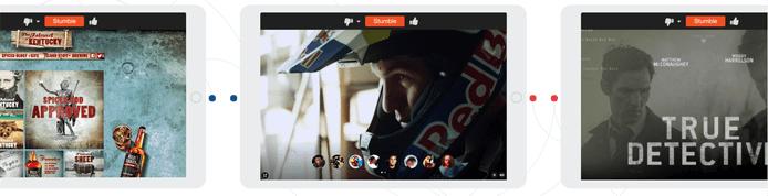 Screenshot of StumbleUpon pages