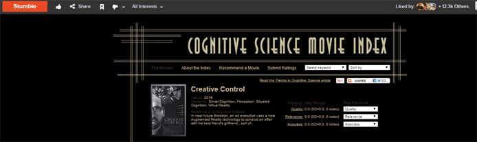 Screenshot of a StumbleUpon webpage presentation