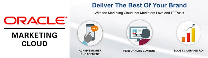 Oracle Marketing Cloud logo with graphics