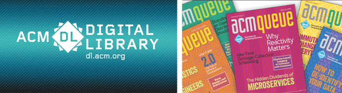 Photo of ACM publications and digital library