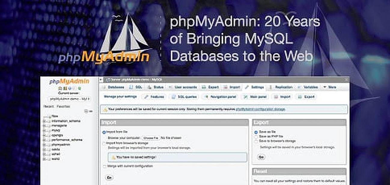 phpMyAdmin: Nearly 20 Years of Bringing MySQL to the Web