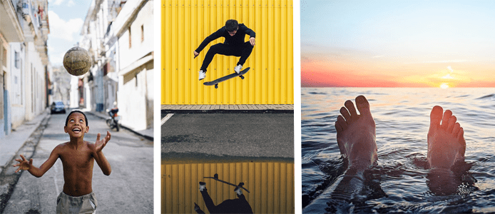 Collage of 500px photographer images