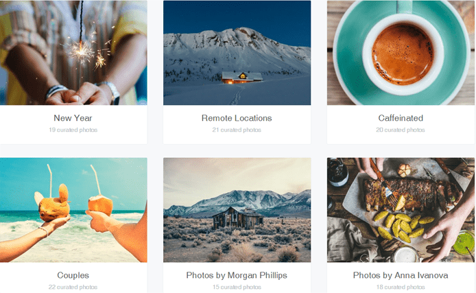 Screenshot of the 500px Marketplace