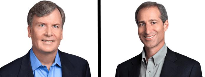 Headshots of Dave Garr and Darrell Benatar