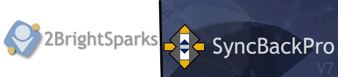 Collage of 2BrightSparks and SyncBackPro logos