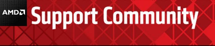 Screenshot of AMD Support Community header