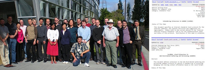 CalDAV and CardDAV contributors gather a few times each year to discuss specifications to the protocols.