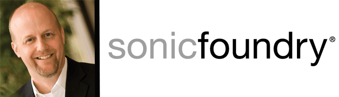 Headshot of Ron Lipps and Sonic Foundry logo