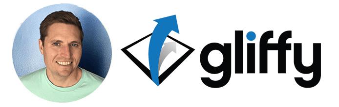 Headshot of Chris Kohlhardt and Gliffy logo