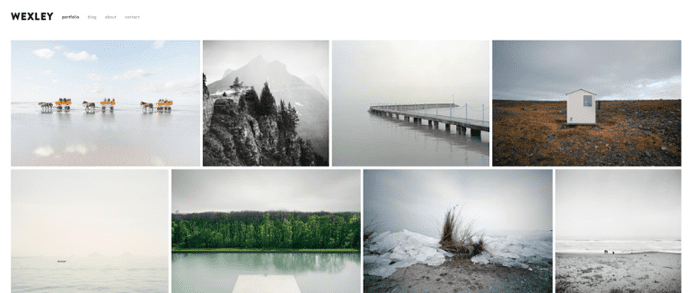 10 best squarespace templates for blogs videos photographers screenshot of squarespaces wexley template pronofoot35fo Gallery