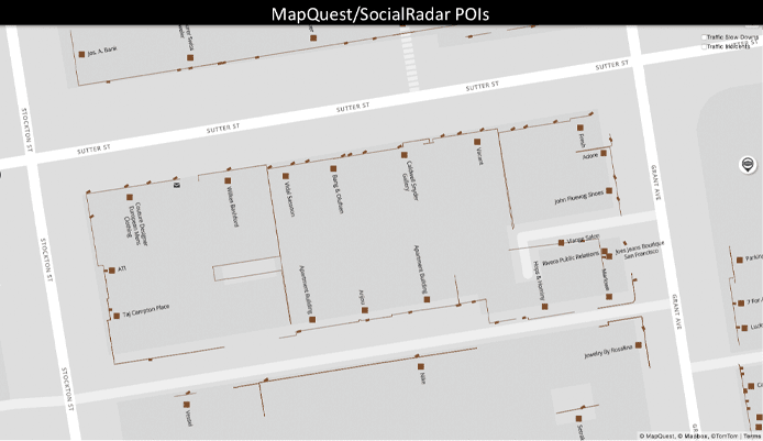 MapQuest's improved POIs through SocialRadar