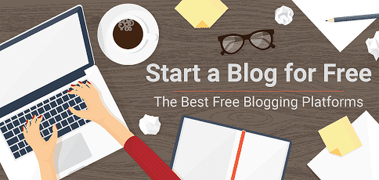 Graphic for how to start a blog for free