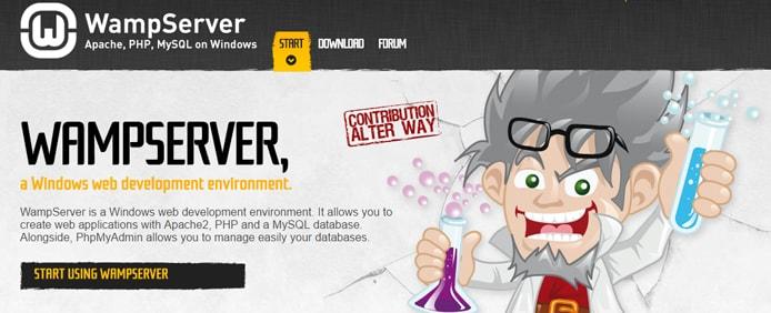 WampServer screenshot