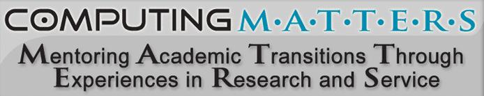Screenshot of the Computing MATTERS banner