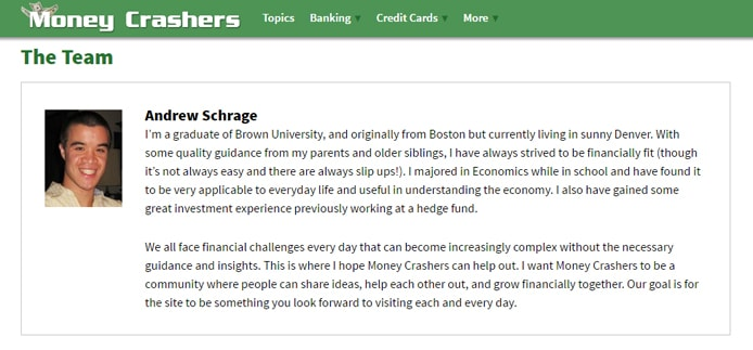 MoneyCrashers.com Screenshot
