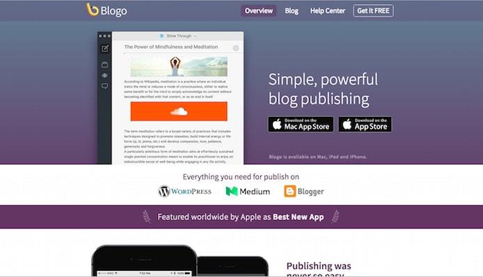 Blogo screenshot