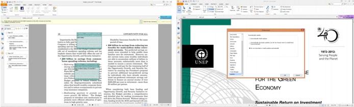 Screenshots of Foxit Reader