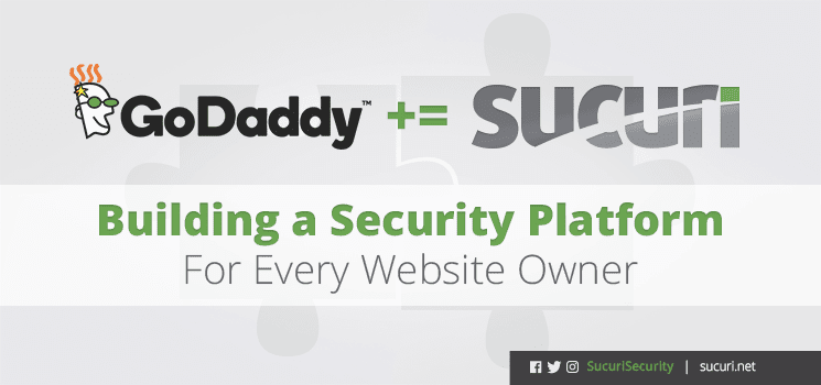 GoDaddy and Sucuri logos