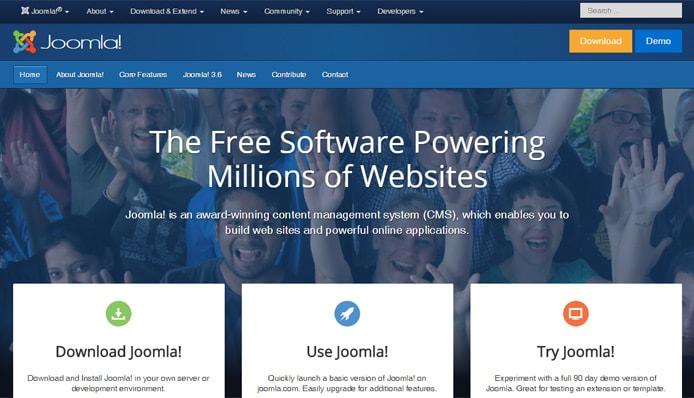Screenshot of Joomla.org
