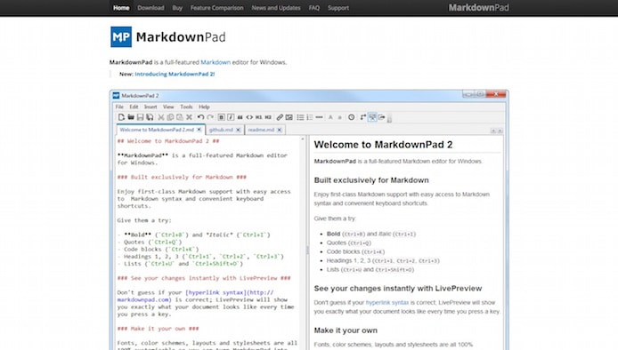 MarkdownPad screenshot