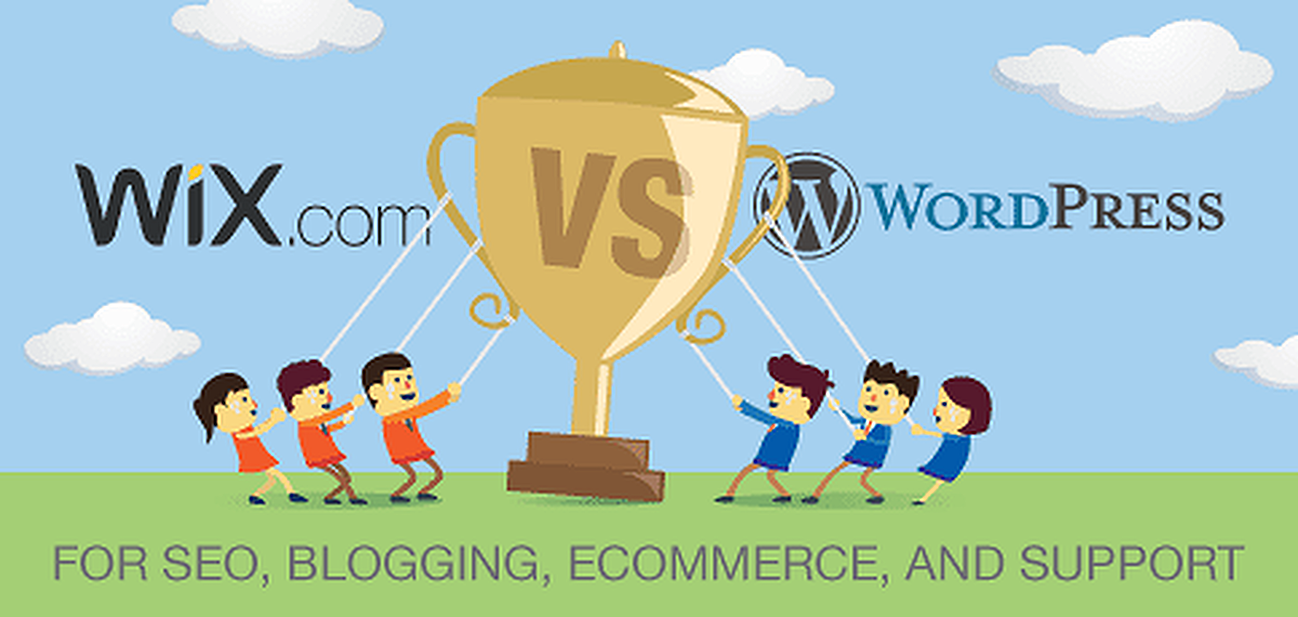 Wix vs. WordPress for SEO, Blogging, and eCommerce