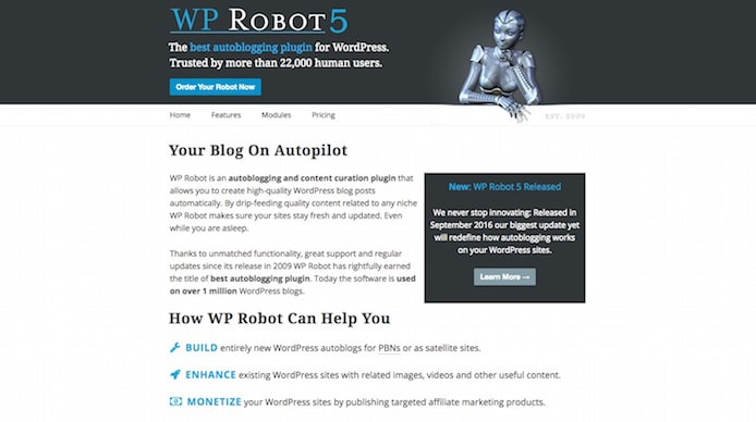 WP Robot screenshot