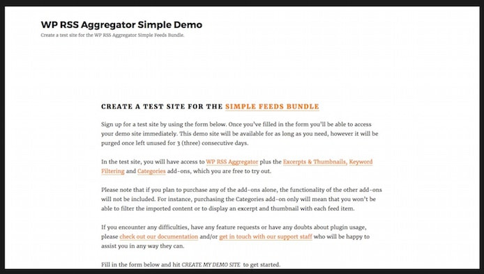 WP RSS Aggregator screenshot