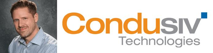 Collage of Brian Morin's headshot and Condusiv logo
