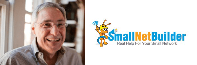 Collage of Tim Higgins's headshot and SmallNetBuilder logo