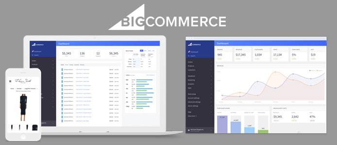 Screenshots of BigCommerce interface